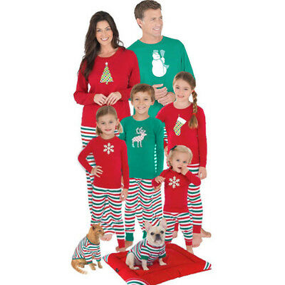 MADE by Gacloz Family Pajamas Pjs Dad / Mom ELF ELK Stocking Christmas Sleepwear