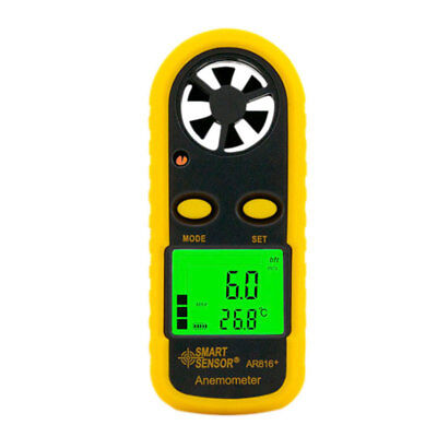 Wind Speed Meter Hand-gliding Digital LCD Handheld Anemometer Thermometer Pro