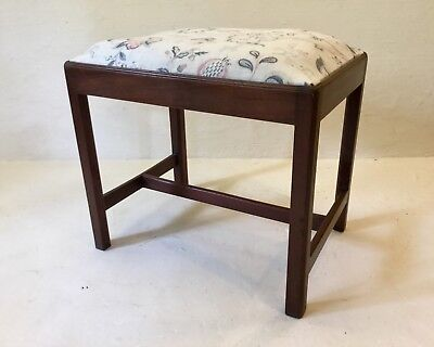 Antique George Iii Mahogany Dressing Stool