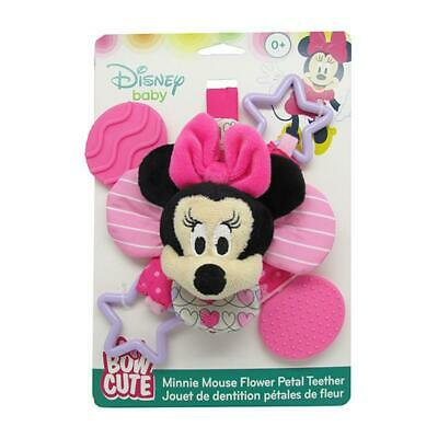 Minnie Mouse Bow Cute Petal Teether Rattle - Disney Baby Free Shipping!