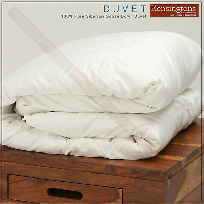 Luxurious 100% Pure Siberian Goose Down Duvet Quilt All Togs in Size King Size