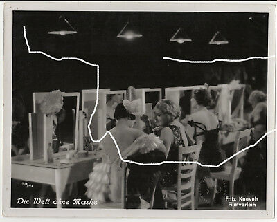 30x24cm Orig Foto 1934 HARRY PIEL Tänzerin Burlesque Revue Prägestempel photo