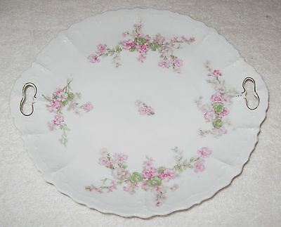 Antique/Vintage Austrian China Decorative Serving Plate, Moritz Zdekauer 10 3/4""