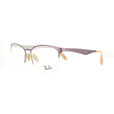b382b74196 Ray-Ban Glasses Frames RX 6345 2864 Top Brushed Violet On Silver Womens 52mm