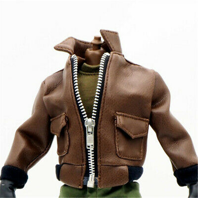 1/6 Scale Uniforms Coveralls Suit Wild Brown leather jacker Fit Toys B005