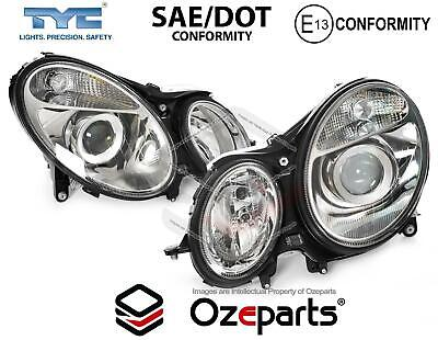 Pair LH+RH Head Light Non Xenon For Mercedes Benz E Class W211 Ser 1 2002~2006