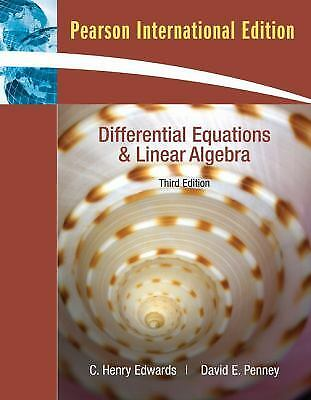 Students solutions manual for differential equations and linear differential equations and linear algebra by c henry edwards david penney fandeluxe Image collections