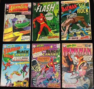 Six - Silver Age DC Comics - Brave and Bold, Adventure and Flash