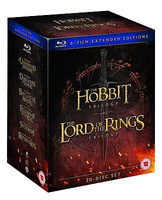 Middle Earth - Six Film Collection Extended Edition Blu-ray Hobbit Lord of Rings