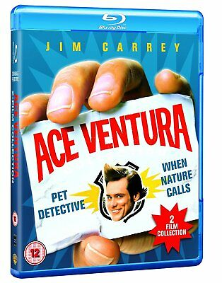 Ace Ventura: Pet Detective + When Nature Calls [Blu-ray Set, Region Free, Carey]