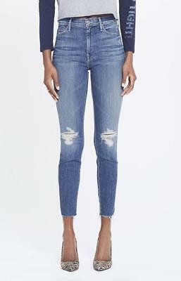 MOTHER The Vamp Fray Mid Rise Skinny Jeans in Crazy Like A Fox
