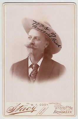 """Rare William Cody """"Buffalo Bill"""" Signed Photo that aired on Pawn Stars TV show"""