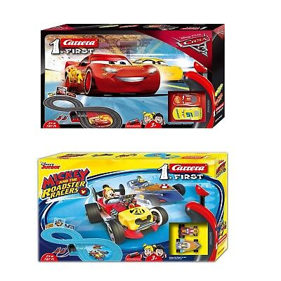 Carrera First Slot Car Racing Disney Cars OR Mickey racing Track Set Toy New
