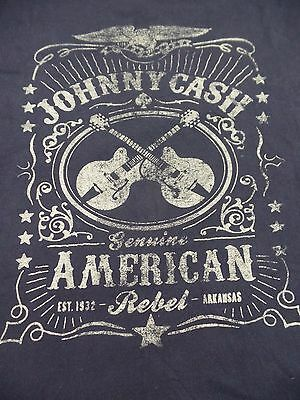 JOHNNY CASH T-shirt Genuine American Rebel Tee ZION ROOTSWEAR Adult Large