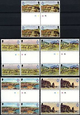 Isle Of Man 1980 SG#165-9 Royal Geographical MNH Plate Gutter Pairs Set #D59769