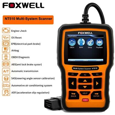 Foxwell NT510 Full System OBDII Car Code Reader Engine ABS SRS Scanner For BMW