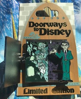Disney Pin Doorways To Disney Pin Of The Month The Haunted Mansion Pin Rare LE