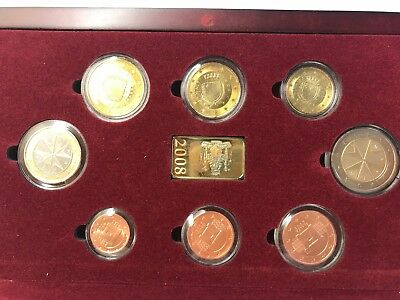 Malta 2008 8 Coin BU Set cased with COA official issue 26507of 40000