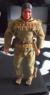 The Lone Ranger : Tonto Action Figure With Shoes Made By Gabriel In 1973 (Sk)