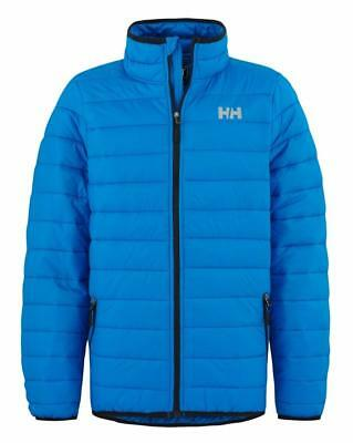 New Helly Hansen Horten Boys Padded Puffa Jacket Age 7 to 16 Blue quilted puffer