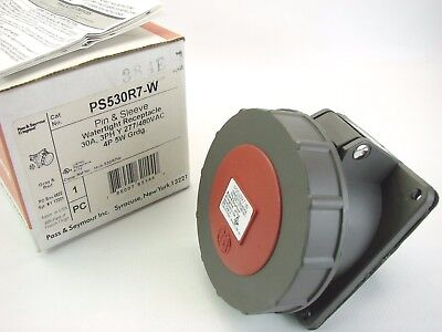Pass & Seymour PS530R7-W Pin & Sleeve Watertight Receptacle 277/480V 30A 3-Phase