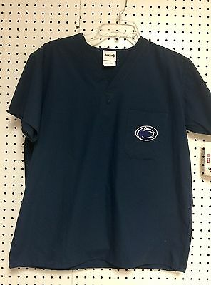 Penn State Nittany Lions Navy College Unisex Men Ladies Scrub Tops S-M-L-XL NWT.