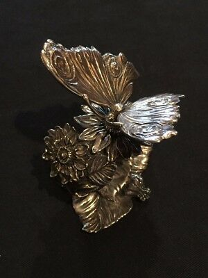 Silver Butterfly Napkin Ring by Neiman Marcus - In the Style of Reed and Barton