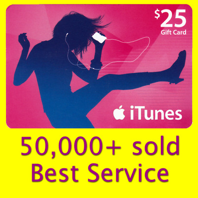 $25 APPLE US iTunes GIFT CARD voucher certificate FAST (USA iTunes Store)