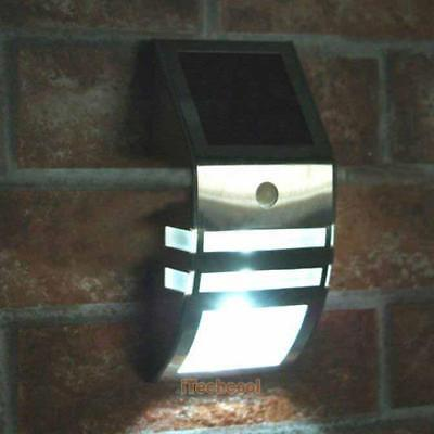 Waterproof Stainless Steel Solar Power LED Motion Sensor Outdoor Wall Light Lamp