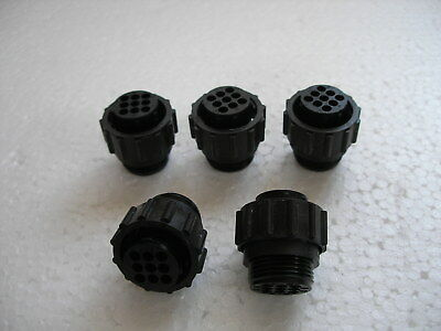 LOT OF 5 - AMP 206708-1 Receptacle Housing Connector Amphenol - NOS