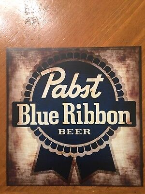 Tin Sign Vintage Pabst Blue Ribbon Beer Rustic