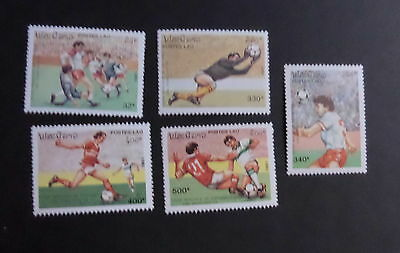 Laos 1991 World Cup Football Championship SG1247/51 MNH UM unmounted mint