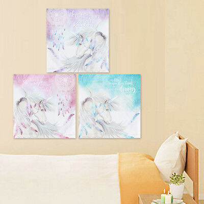 Mystic Unicorn Canvas Print Art Painting Home Kids Bedroom Wall Decor Framed