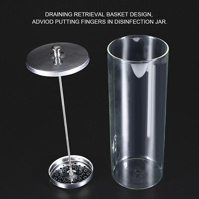 9 Inch Glass Disinfecting Jar Sterilization Container Sanitizer For Barber Salon