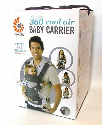 NEW ERGOBABY 360 4 Position Ergo baby carrier / COOL AIR MESH CARBON GREY