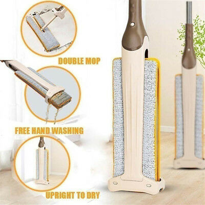 New Arrivals Self-Wringing Double Sided Flat Mop Telescopic Comfortable Han