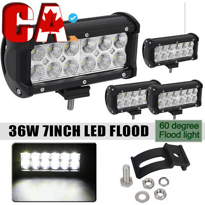 8x 4inch 18W CREE LED Spot Work Light Bar ATV SUV Fog Off road 4WD Driving Lamp