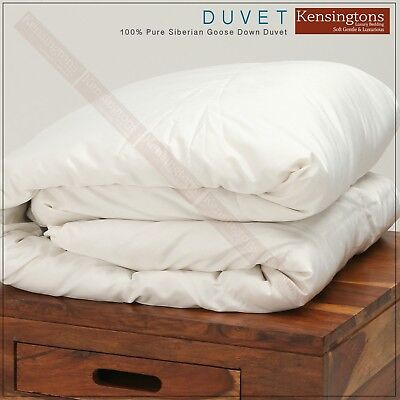 Luxurious Pure Siberian Goose Down Duvet Quilt Silk Cover Single Bed All Togs