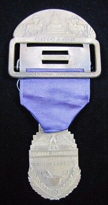 Orig 1938 NATIONAL ASSN of RETAIL DRUGGISTS CHICAGO Convention Ribbon Medallion