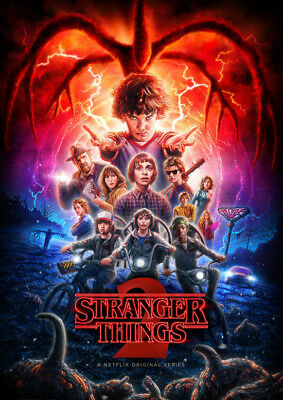 Stranger Things Season 2 Poster Print Borderless Glossy Stunning A1 A2 A3 A4