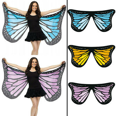 Colorful Soft Fabric Butterfly Wing Fairy Lady Nymph Pixie Costume Accessory Lot