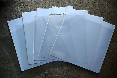 Creative Memories Original 12x12 White Scrapbook Pages & Protectors - set of 5