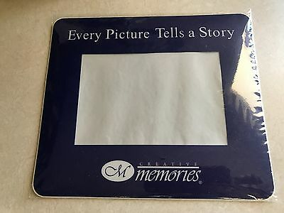 NEW Creative Memories Blue Insert Photo Computer Mouse Pad