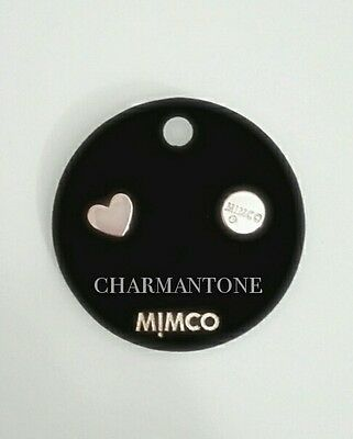 Free shipping Mimco Take Two Heart stud earrings Rose gold.