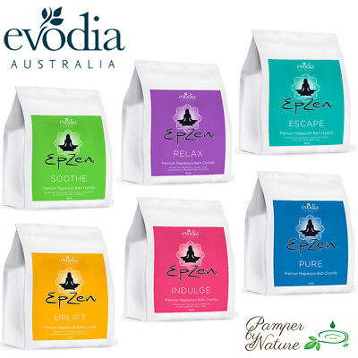 Evodia Epzen Premium Magnesium Bath Crystals 900g - 6 Varieties to choose from