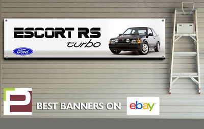 Ford Escort RS Turbo Banner for Workshop, Garage, Office, Showroom, Mk4 Escort