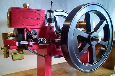 Working Hit and Miss Model Engine Gas Powered Waterloo Boy  Ready to Run -RED-