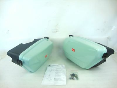 VALIGE LATERALI APRILIA SCARABEO 125 150 200 ORIGINALI SIDE box case VERDE GREEN