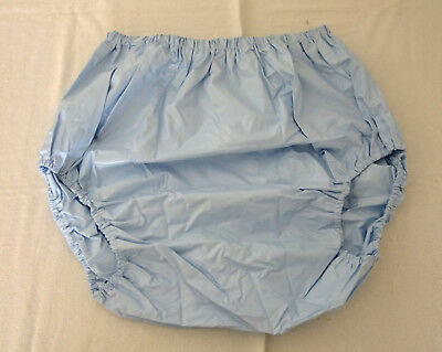 PVC-U-Like PVC Pants Soft Blue Baggy Roleplay M L Panties Knickers Vinyl