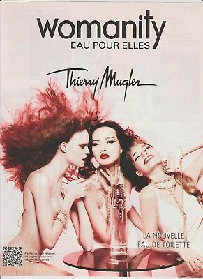 PUBLICITÉ PAPIER  -  ADVERTISING PAPER WOMANITY THIERRY MUGLER  (petit format)